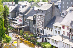 Monschau, Duitsland - Tilt shift